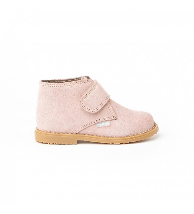 Comprar Angelitos Botines de piel Velcro rosa