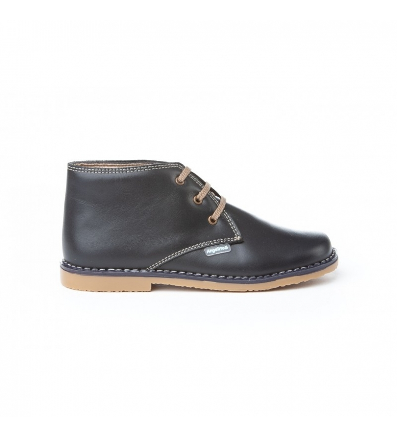 Comprar Angelitos Leather boots Marine lace
