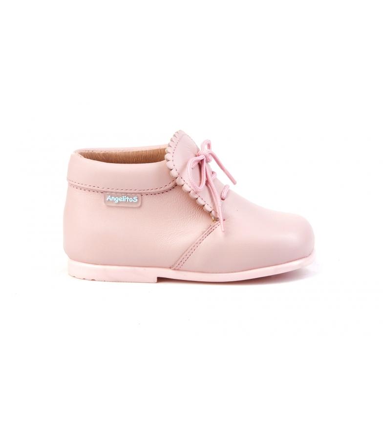 Comprar Angelitos Botines de piel Galés rosa