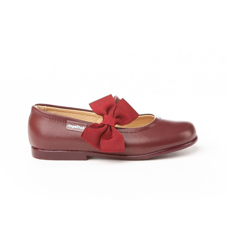 Comprar Angelitos French leather Ribbon Falla burgundy