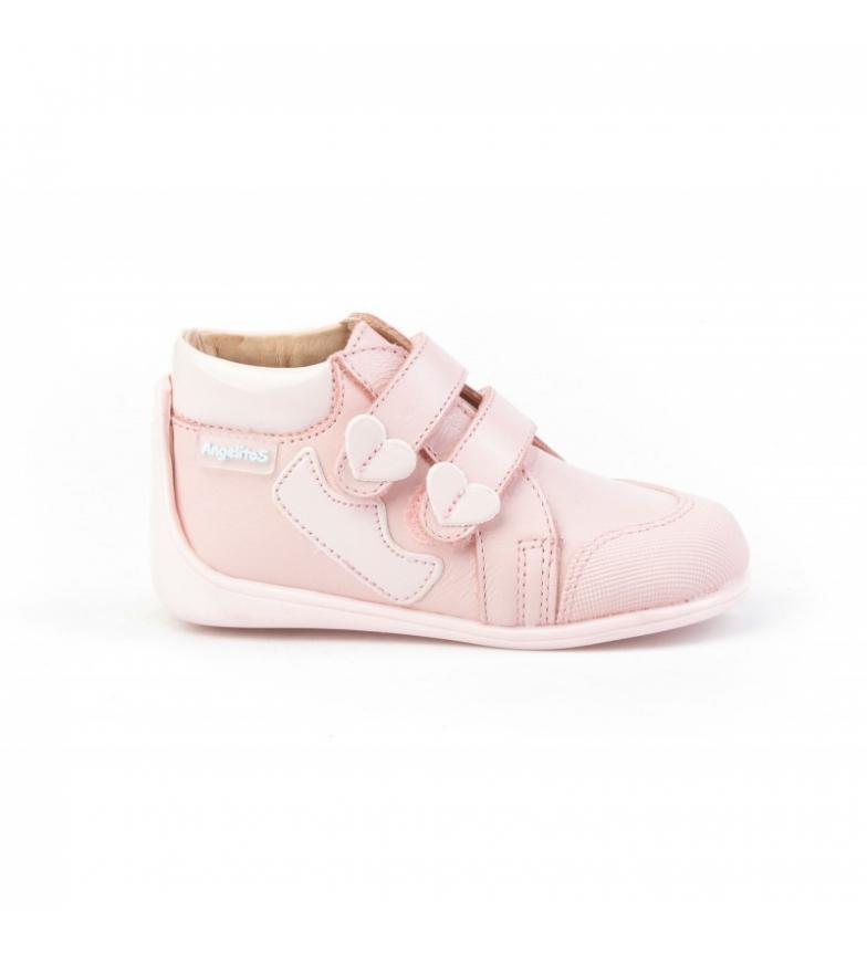 Comprar Angelitos Botines de piel Corazón Neo Gateo rosa