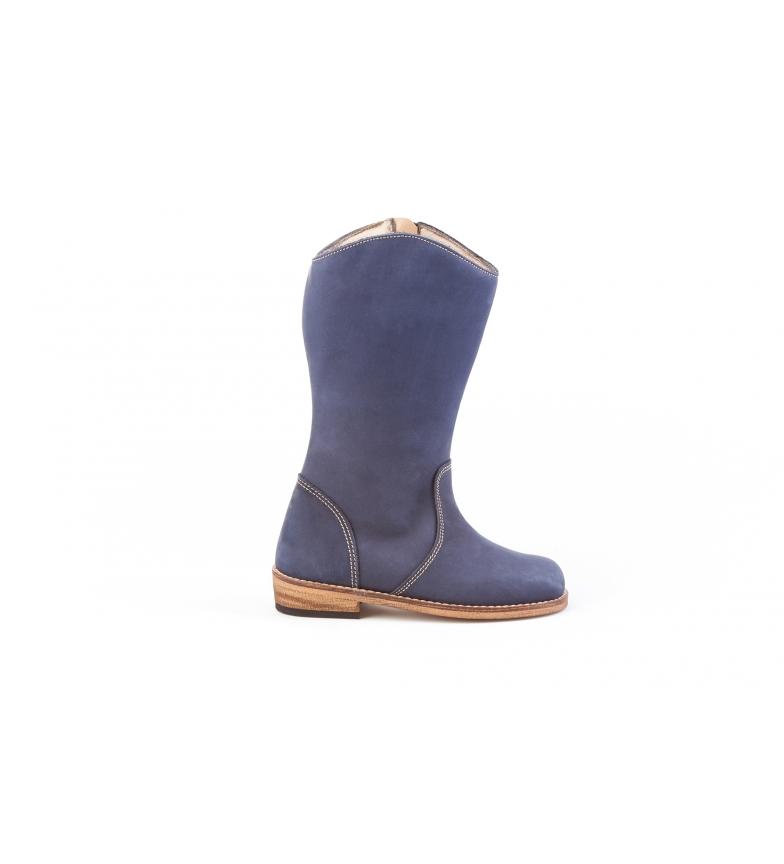 Comprar Angelitos Stivali di pelle nabuk blu scuro