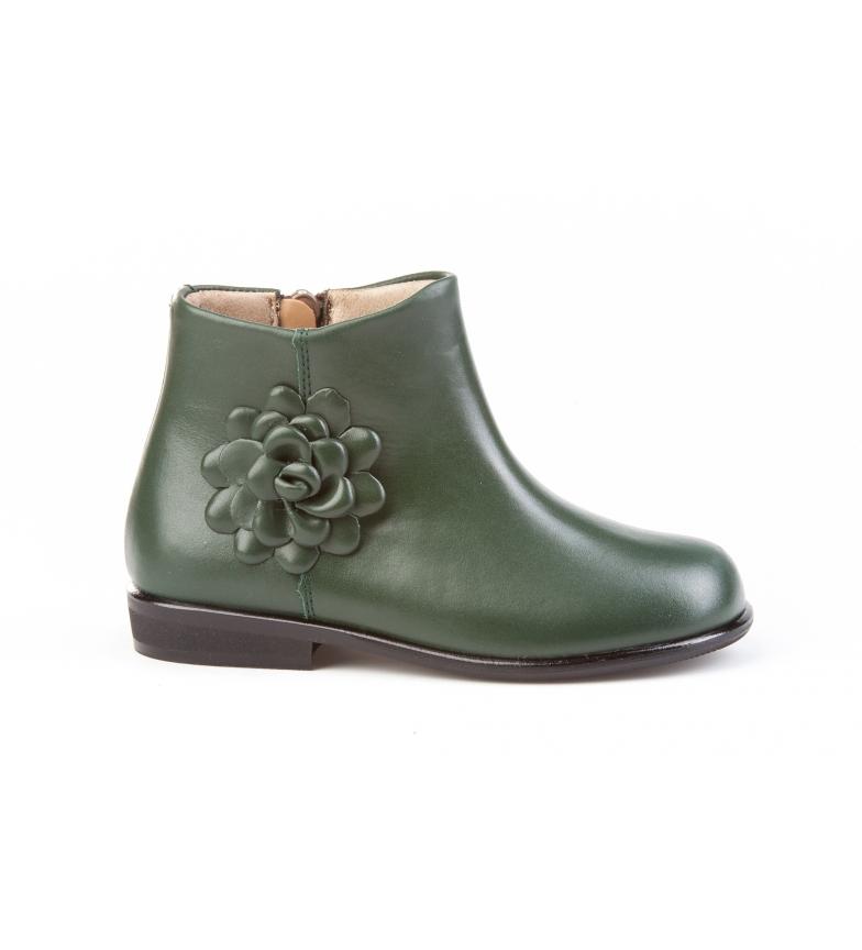 Comprar Angelitos Botas de couro Flor verde