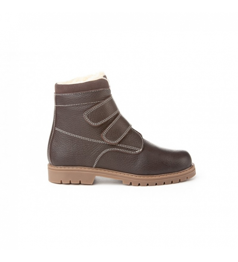 Comprar Angelitos Stivali in pelle Safari Velcro cioccolato