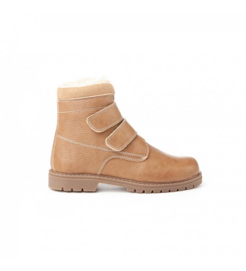 Comprar Angelitos Stivali di pelle Safari Velcro taupe
