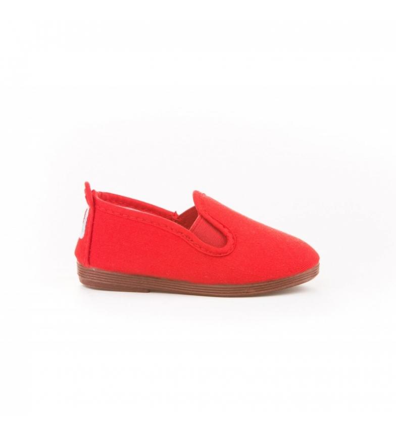 Comprar Angelitos Scarpe Kun Fu di tela rossa