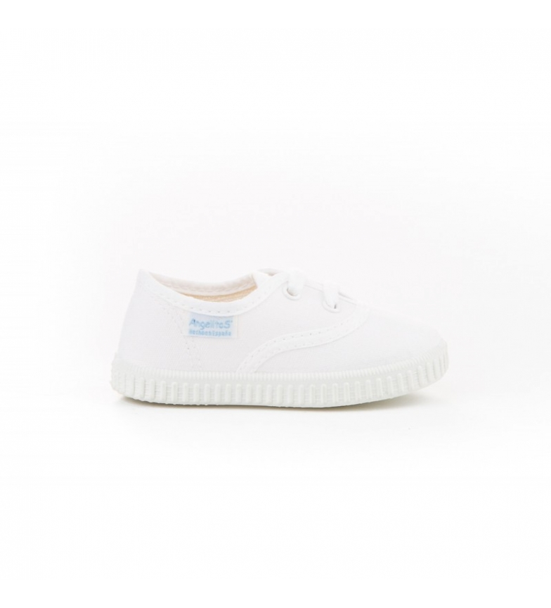 Comprar Angelitos Canvas white English slippers