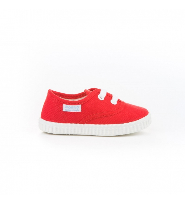 Comprar Angelitos Red canvas English slippers