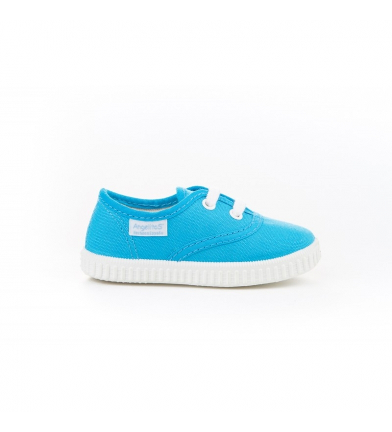 Comprar Angelitos Turquoise canvas English slippers