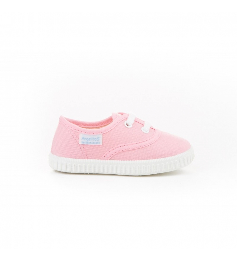 Comprar Angelitos Pink canvas English slippers