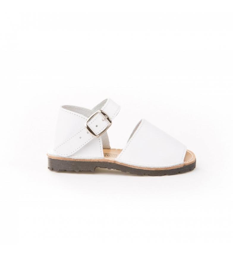 Comprar Angelitos Avarca white leather buckle