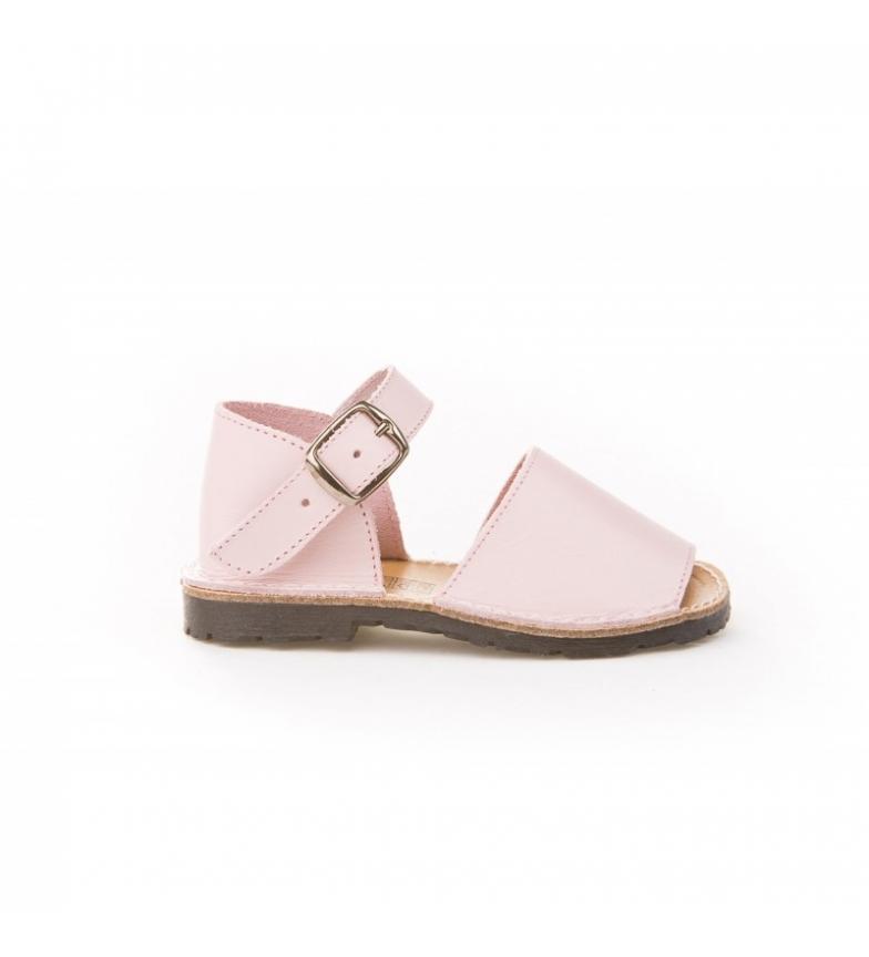 Comprar Angelitos Avarca pink leather buckle