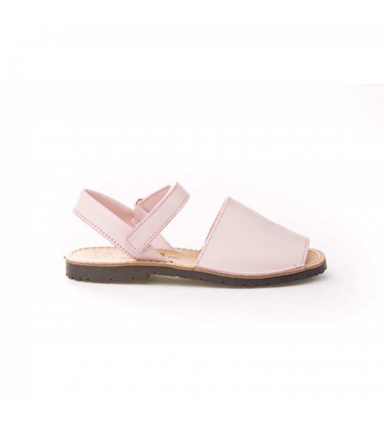 Comprar Angelitos Avarcas of pink velcro skin