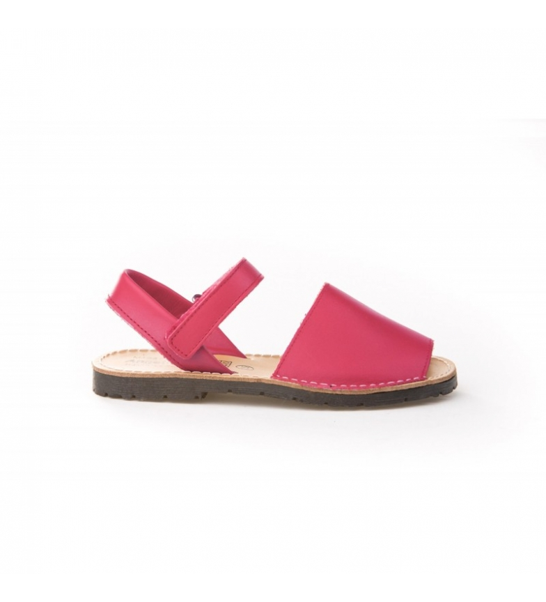 Comprar Angelitos Fuchsia Velcro leather avarcas