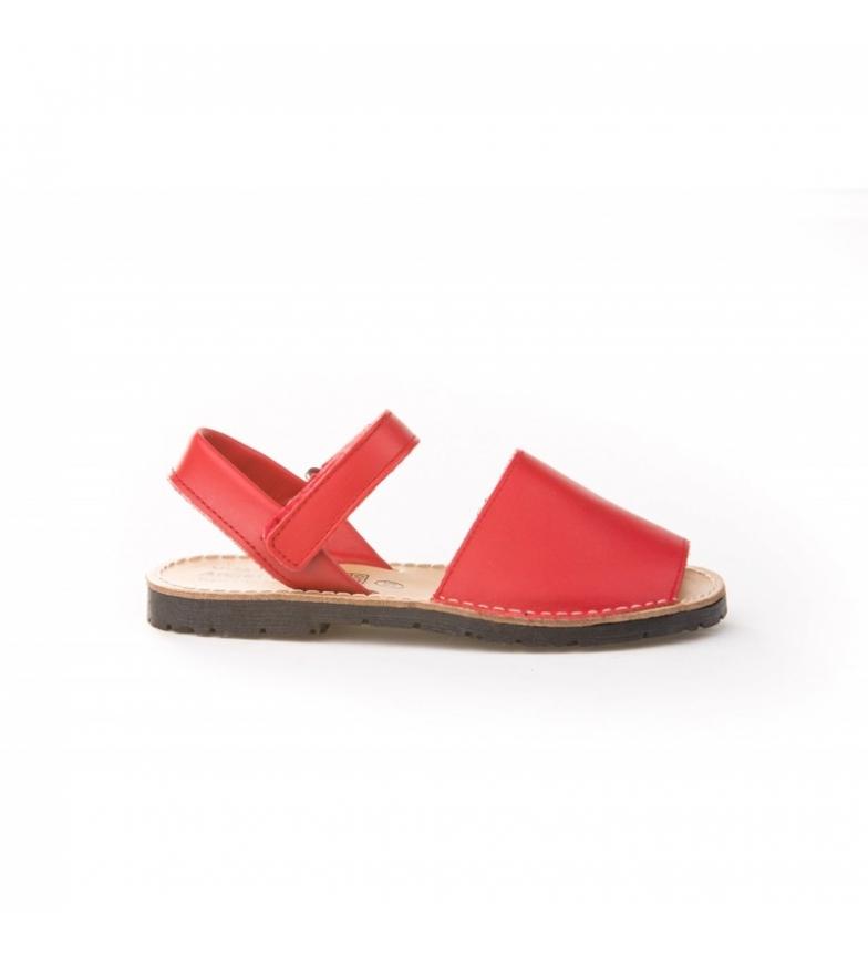 Comprar Angelitos Avarcas of red velcro skin