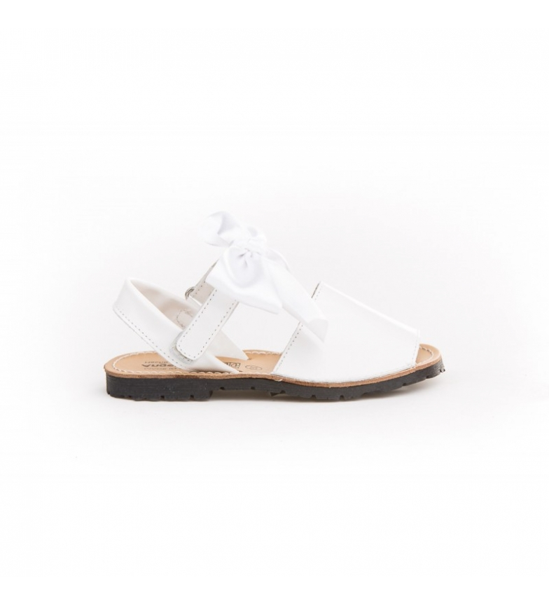 Comprar Angelitos White ribbon patent leather avarcas