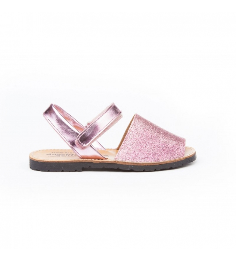 Comprar Angelitos Pink Velcro glitter skin