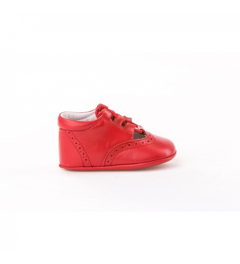 Angelitos Chaussures en cuir rouge Inglesitas