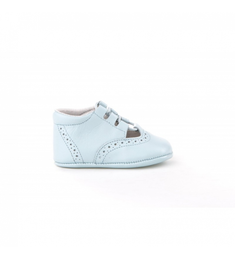 Comprar Angelitos Light blue English leather shoes