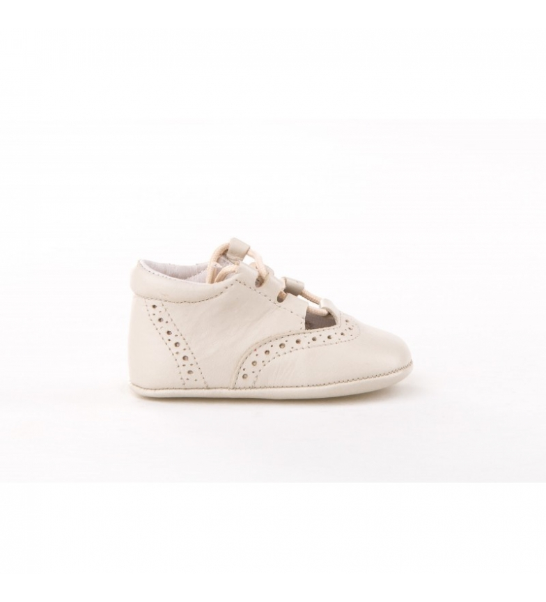 Angelitos Zapatos de piel Inglesitas beige