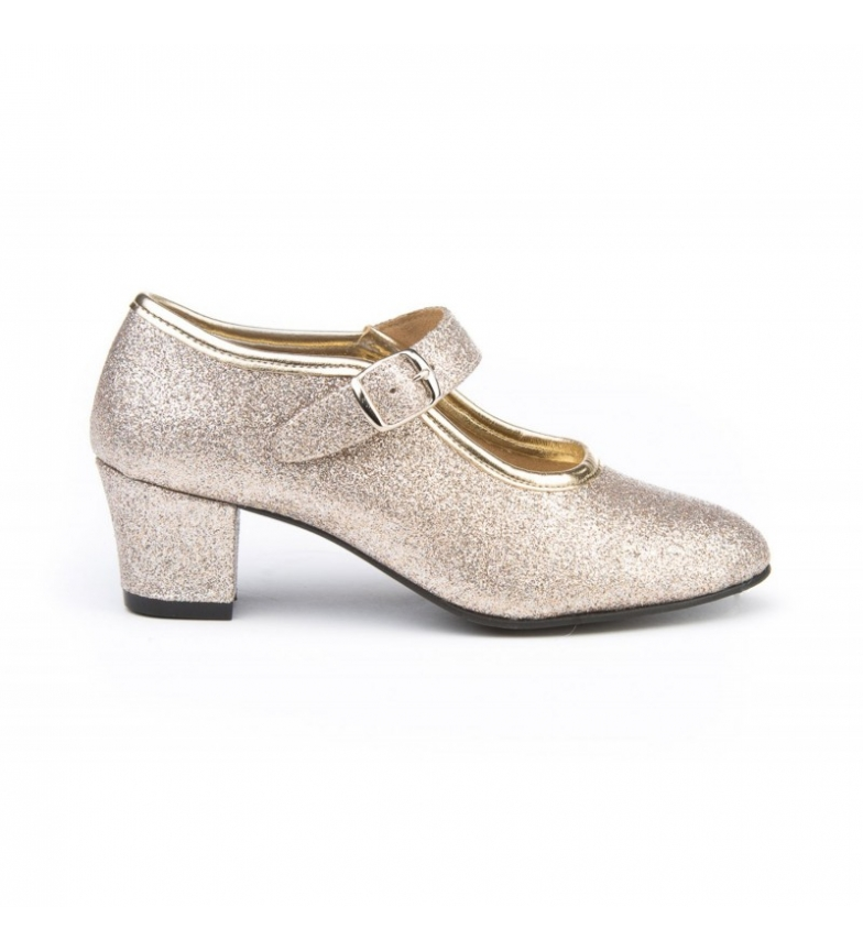 Comprar Angelitos Flamenca glitter platinum lounge shoes