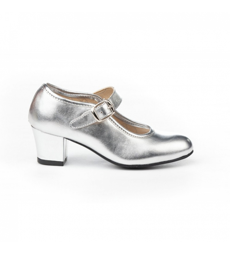 Comprar Angelitos Flamenca silver living room shoes