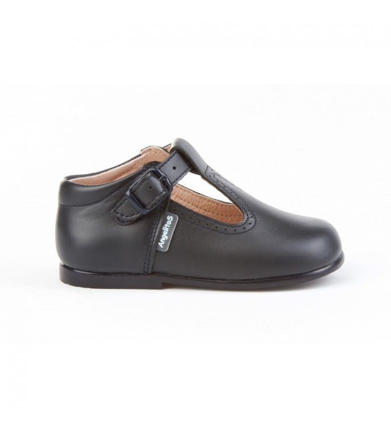 Comprar Angelitos Pepito leather shoes with a sea buckle
