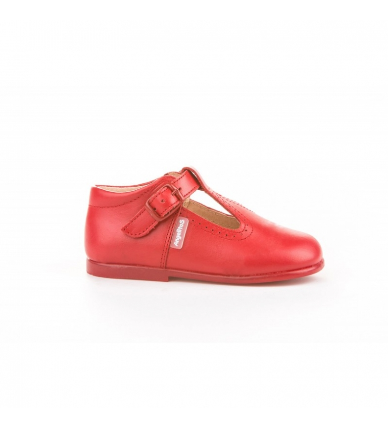 Comprar Angelitos Leather shoes Pepito red buckle