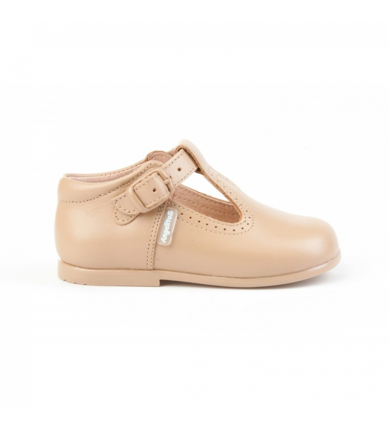 Comprar Angelitos Leather shoes Pepito buckle camel