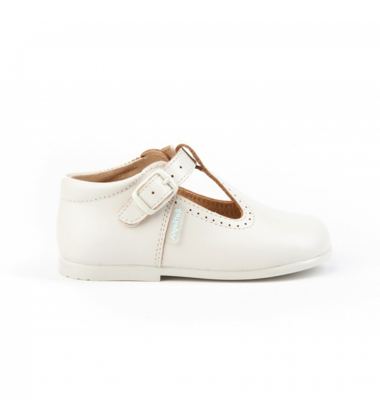 Comprar Angelitos Pepito leather shoes beige buckle