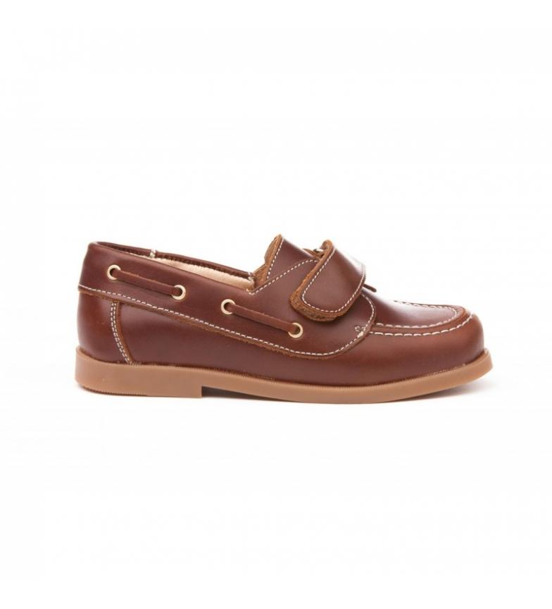 Comprar Angelitos Náutico de piel Velcro marrón