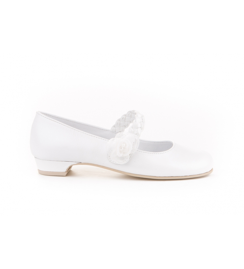 Comprar Angelitos Ballerina comunione piuel bianca intrecciata