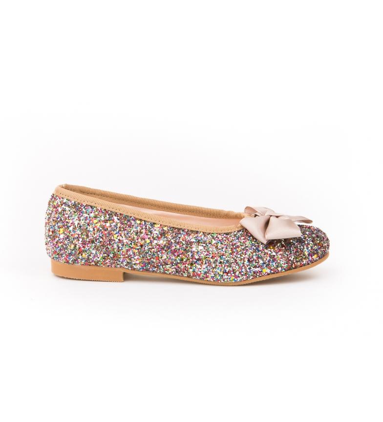 Comprar Angelitos Sapato de Couro Blue Gliter / Manoletina