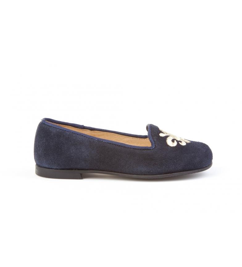Comprar Angelitos Sapato de couro acamurçado da Marinha