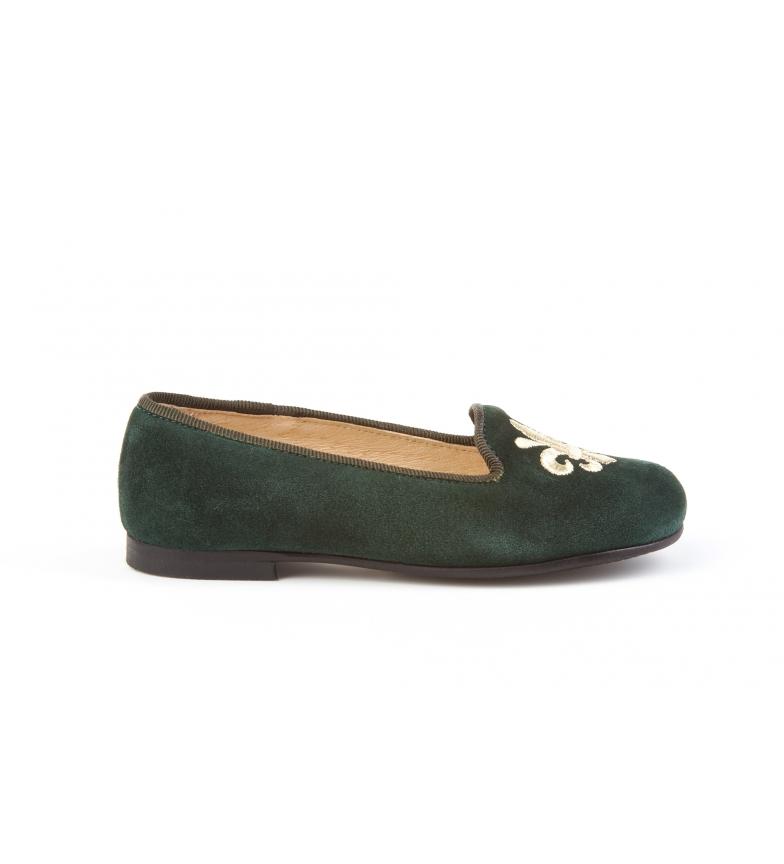 Comprar Angelitos Zapato de piel ante verde