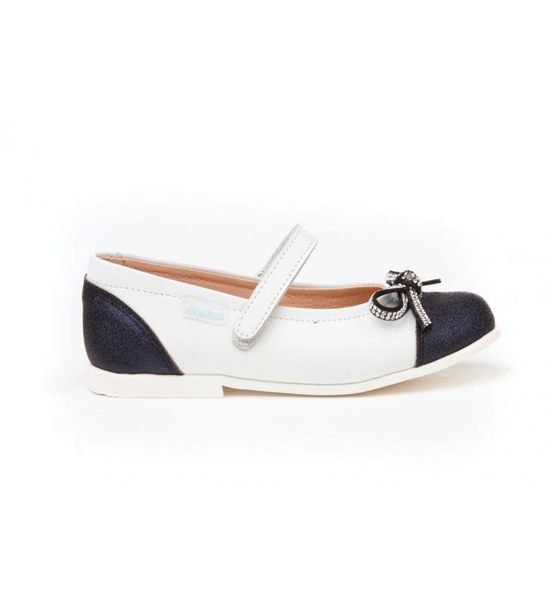 Comprar Angelitos Sapato de Couro Mercedita sapatos com laço multicolor brilhante