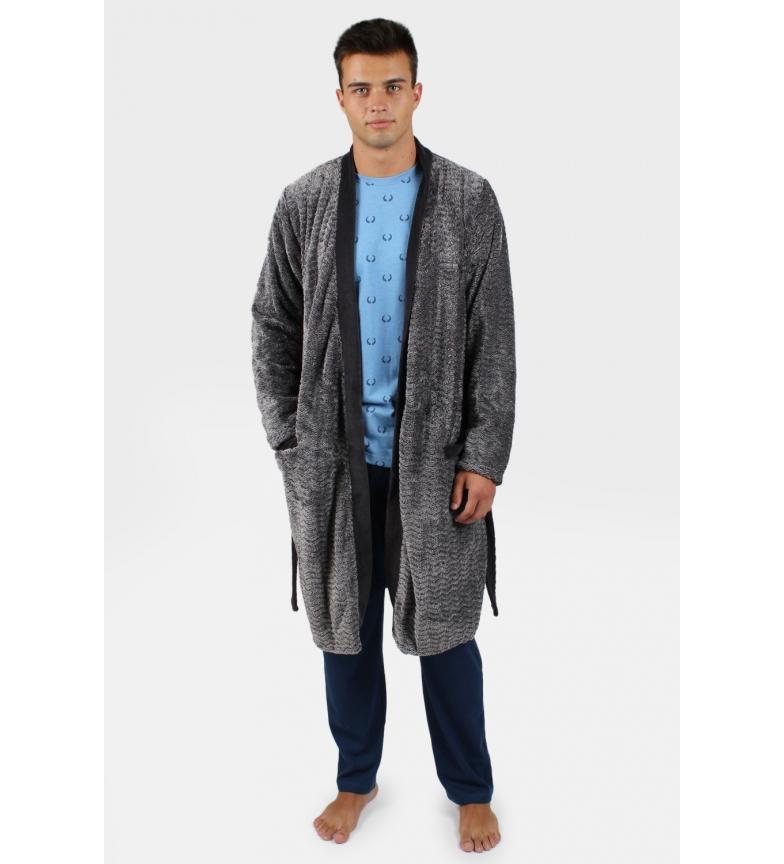 Comprar Antonio Miro Robe à manches longues Zigzag marengo