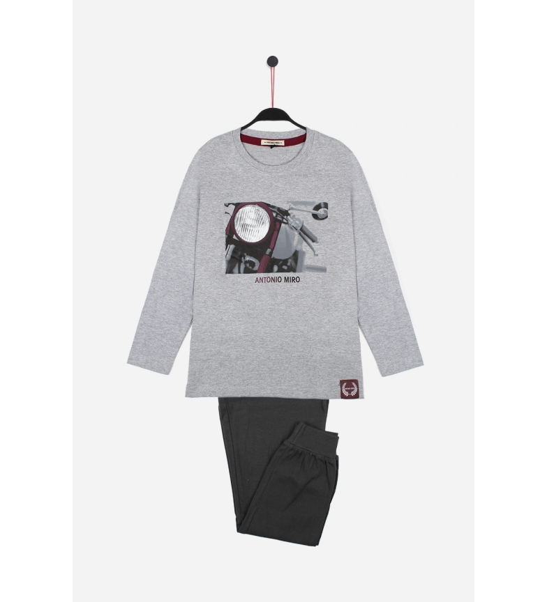 Comprar Antonio Miro Long Sleeve Pajamas Light Grey
