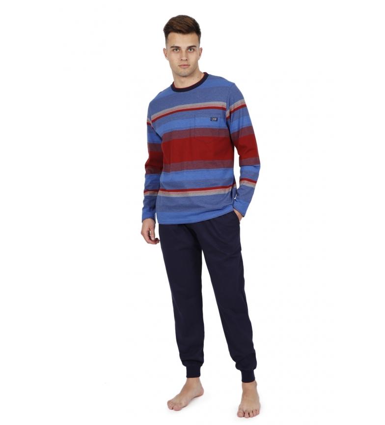 Comprar Antonio Miro Blue Long Sleeve Ring Pajamas