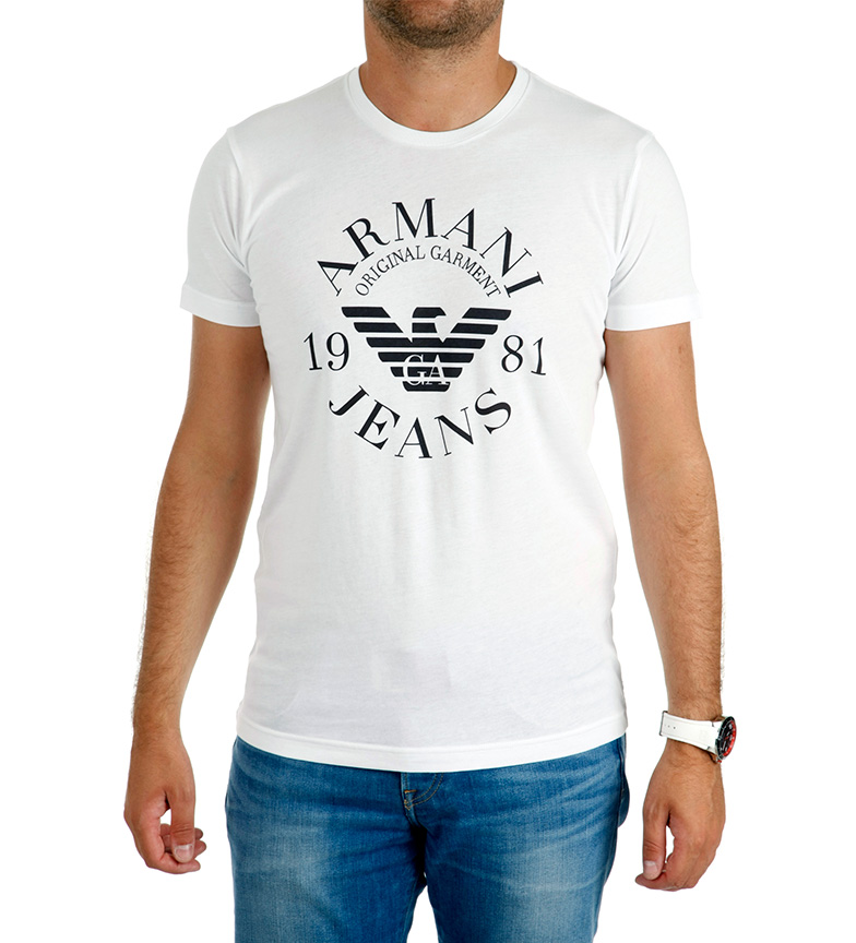 Armani Camiseta Blanco Jeans 1981 GSUMqzLVp