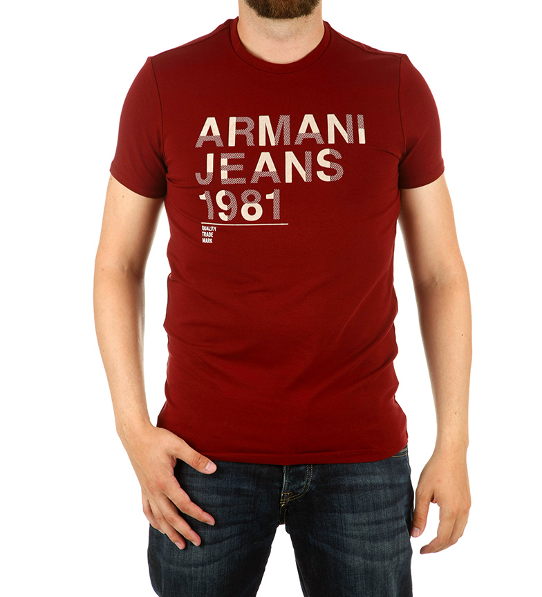 Armani Jeans Camiseta Double marino