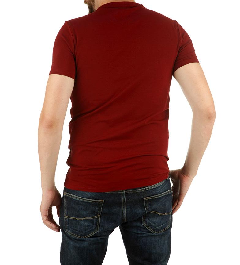 Armani Jeans Camiseta Double granate
