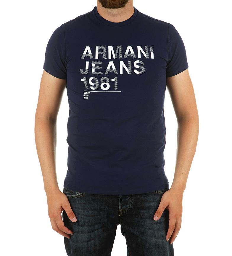 Comprar Armani Jeans Camisa dupla da marinha