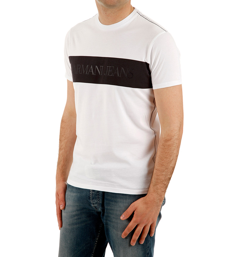 Armani Jeans Camiseta Duo blanco