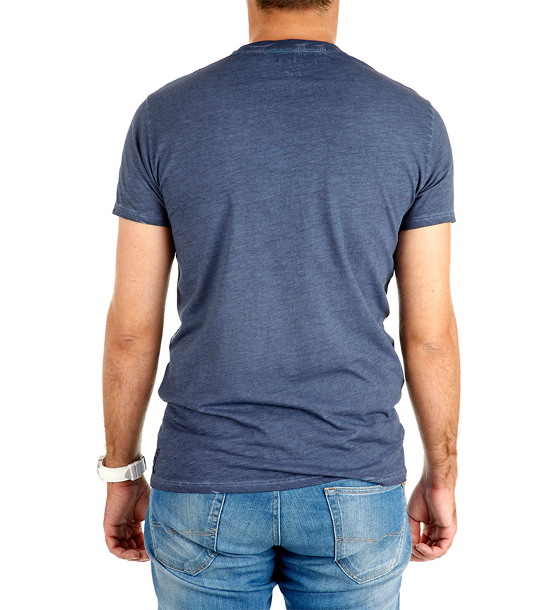 Wear Azul Armani Jeans Camiseta Work K1uTlF35Jc