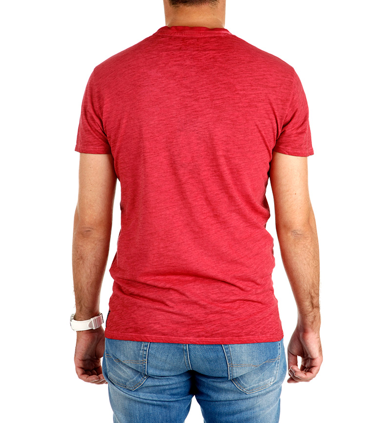 Armani Wear Work Jeans Camiseta Rojo nywO80vPmN