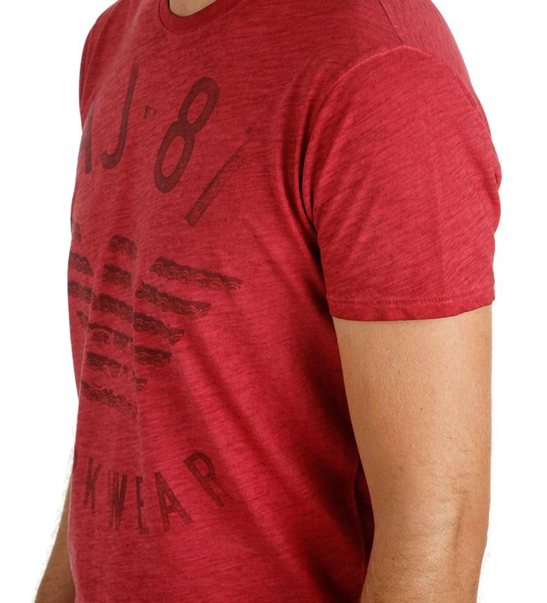 Armani Jeans Camiseta Arbeid Slitasje Rojo 2015 billige online mNUXoGu