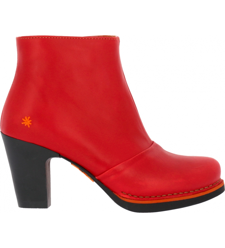 Comprar Art Gran Via 1142 red leather ankle boots -Heel height: 8 cm