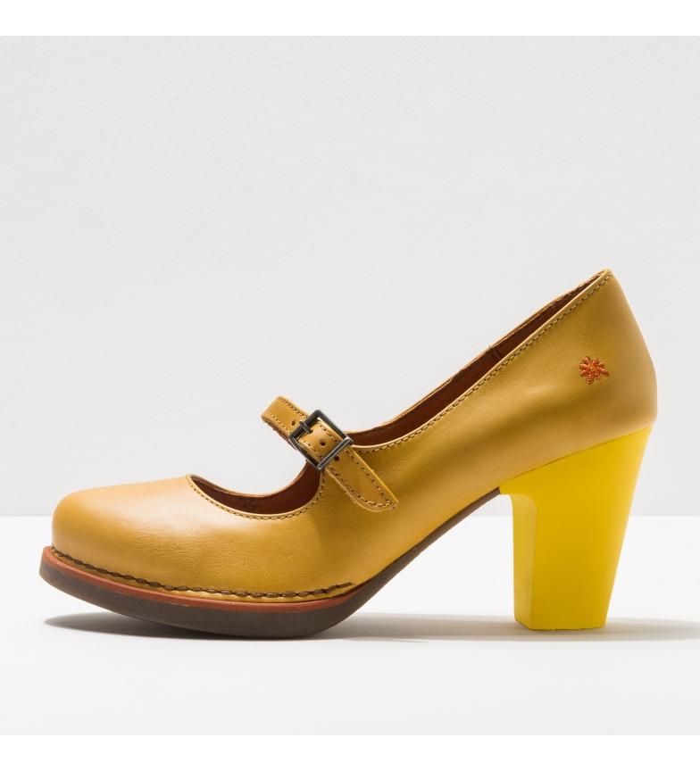 Comprar Art Gran Via sapatos de couro amarelo 1144 -Altura do calcanhar: 8cm- -Altura do calcanhar: 8cm- -Comprimento do calcanhar: 8cm-