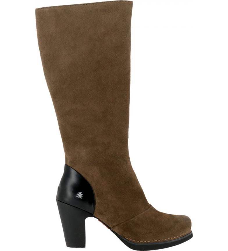 Comprar Art Stivali in pelle 1154 Lux in pelle scamosciata color cachi - Altezza del tacco: 8cm